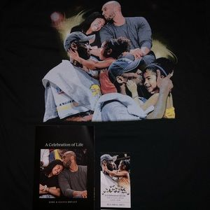 Kobe Bryant Memorial Shirt, ticket, Booklet